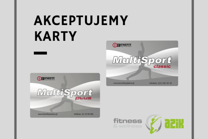 Akceptujemy karty Multisport