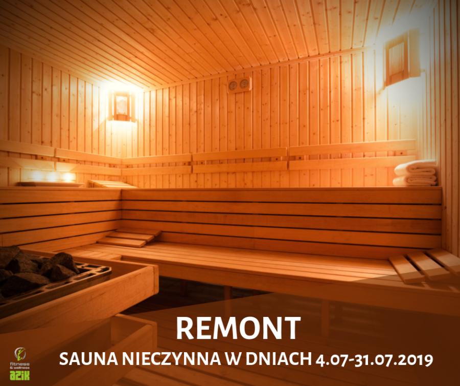 REMONT SAUNY 4.07-31.07.2019