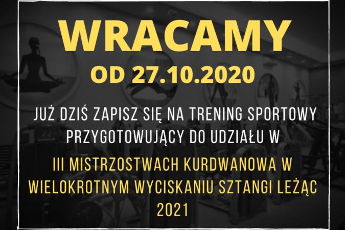 WRACAMY OD 27.10.2020!